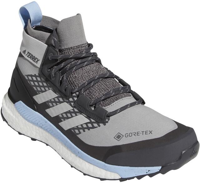 adidas TERREX Free Hiker Gore-Tex Wandelschoenen Dames, chalk solid  grey/grey two/glossy blue